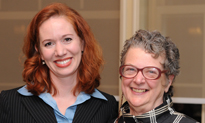 Camilla Taylor of Lambda Legal and Ellen Chapnick, Dean for SJI