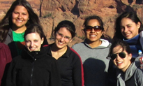 Students on the 2012 Indian Law caravan to Arizona